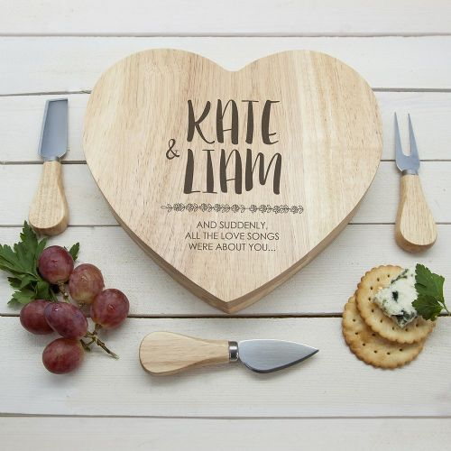 Personalised All About You Heart Cheese Board